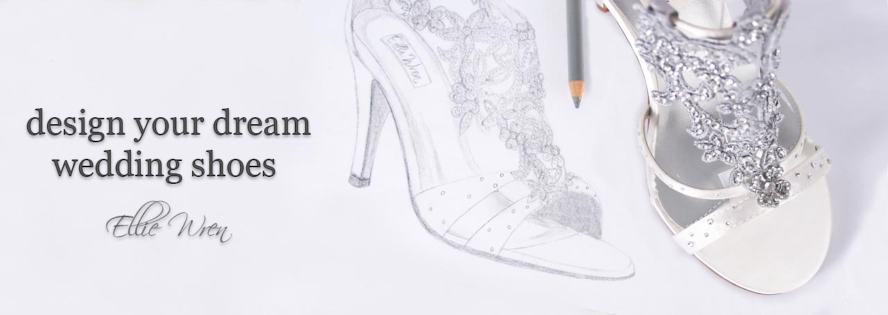 White Wedding Shoes Silver Embellishment Emmy London Inspired Custom Design