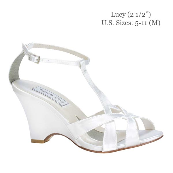 Custom Wedding Shoe Base Shoes Lucy Sandal Wedge Wedding Shoes