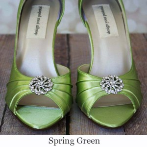 Spring Green Custom Wedding Shoe Base Color