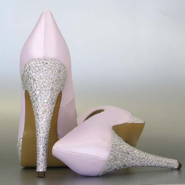 08c37b0edf91 Custom Wedding Shoes Paradise Pink Platform Wedding Shoes Silver Crystal Heel Platform  · Shop This Design · Dyeable Wedding Shoes Fuschia Peep Toe ...