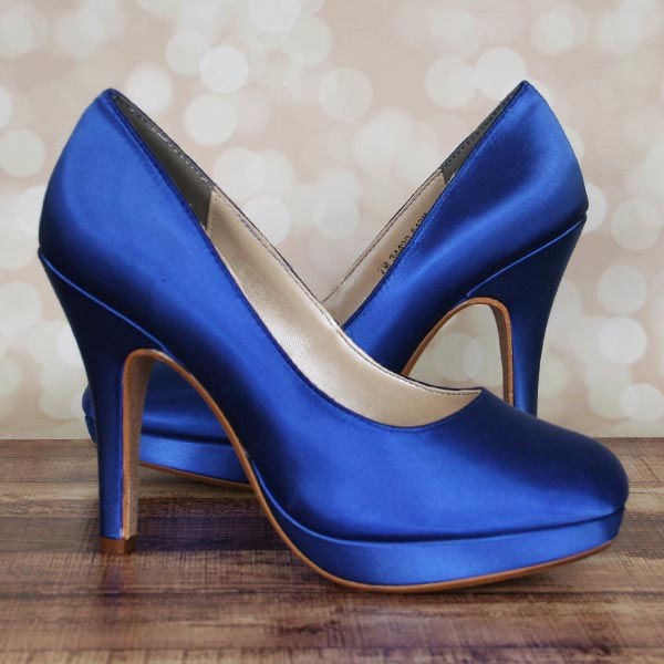 Dyeable Wedding Shoes Sapphire Platform Closed Toe Wedding Shoes 4