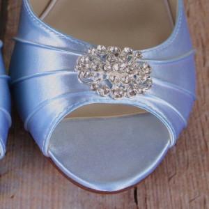 Custom Wedding Shoes Palette Baby Blue