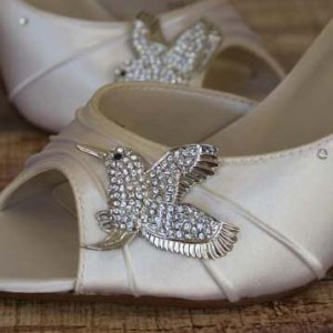 Bird Wedding Shoes Specialty Brooch Custom Wedding Shoes