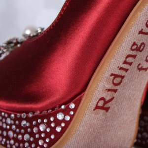 Custom Wedding Shoes Color Palette Brick Red
