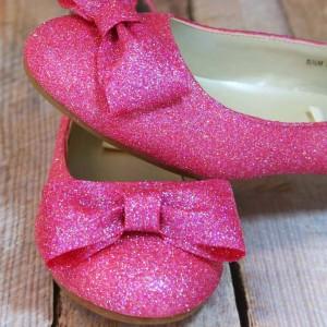Glittered Shoe & Bow