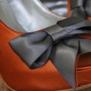 Custom Wedding Shoes Color Palette Burnt Orange