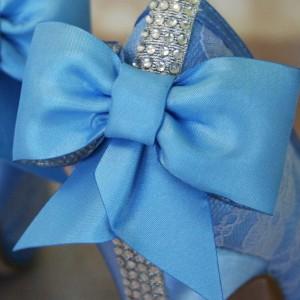 Custom Wedding Shoes Color Palette Capri Blue