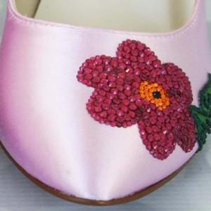 Custom Wedding Shoes Color Palette Capri Pink