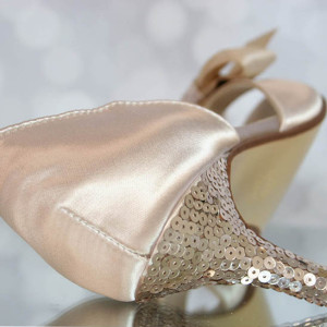 Custom Wedding Shoes Color Palette Champagne