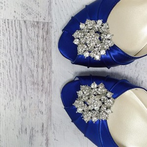 Classic Cluster Adornment Crystal Brooch Custom Wedding Shoes