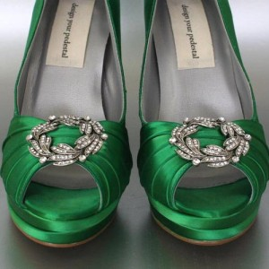 Classic Ring Adornment Custom Wedding Shoes