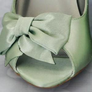 Custom Wedding Shoes Color Palette Clover
