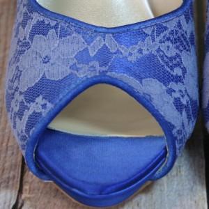 Custom Wedding Shoes Color Palette Cobalt