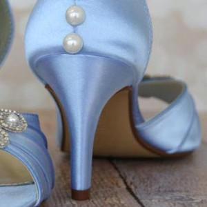 Custom Wedding Shoes Color Palette Cornflower