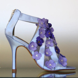 Crystal Accented Flowers (Whole Shoe, Scattered)