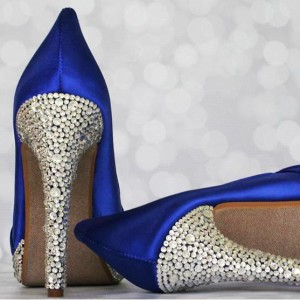 Crystal Covered Heel Multi Sized Packed Custom Wedding Shoes