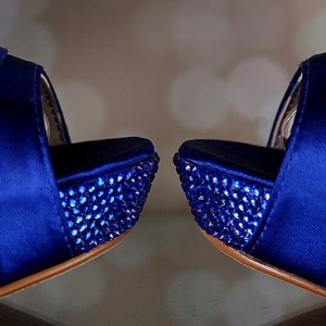 Crystal Covered Platform Color to Match Shoes Custom Wedding Shoes