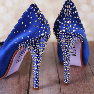 Crystal Heel and Heel Cup Loosely Packed Heel Starburst Heel Cup Multi Sized Custom Wedding Shoes