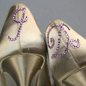 Crystal I Do Heel Cup Custom Wedding Shoes