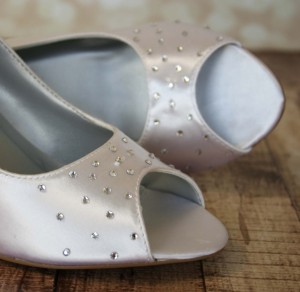 Crystal Scattering on Toe Custom Wedding Shoes