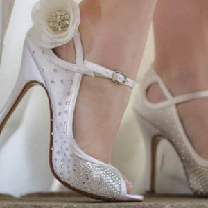 Crystal Starburst Toe to Heel Custom Wedding Shoes