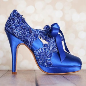 Custom Color Lace Overlay to Sash Custom Wedding Shoes
