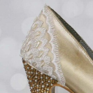 Custom Lace Heel Cup Custom Wedding Shoes