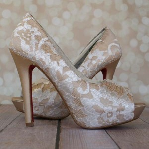 Custom Lace Overlay Custom Wedding Shoes