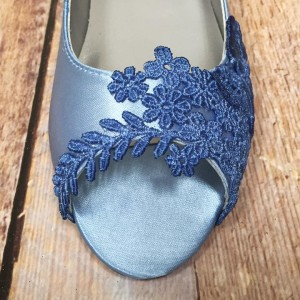 Custom Lace Toe Applique Dyed Custom Wedding Shoes