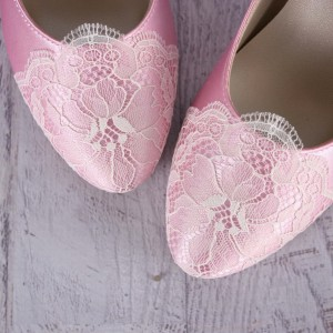 Custom Lace Toe Cap Custom Wedding Shoes