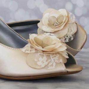 Custom Wedding Shoes Color Palette Dark Ivory