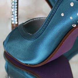 Custom Wedding Shoes Color Palette Dark Turquoise