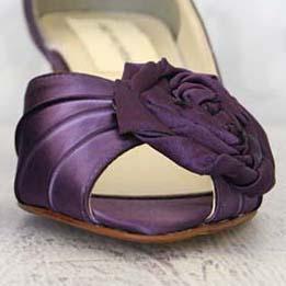 Custom Wedding Shoes Color Palette Eggplant