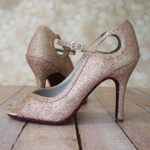Fully Glittered Shoe Custom Wedding Shoes