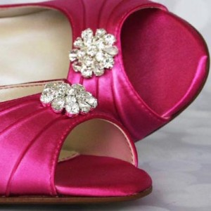 Custom Wedding Shoes Color Palette Fuchsia