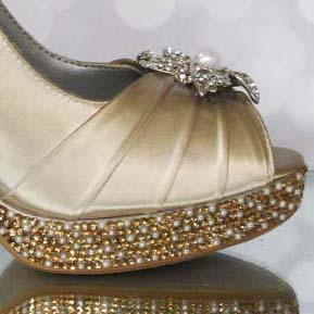 Custom Wedding Shoes Color Palette Gold