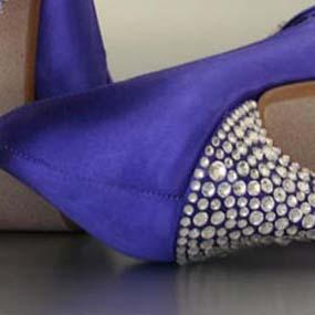 Custom Wedding Shoes Color Palette Grape