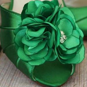 Custom Wedding Shoes Color Palette Green