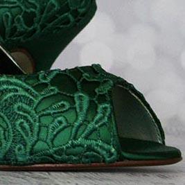 Custom Wedding Shoes Color Palette Hunter Green