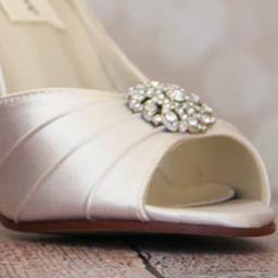 Custom Wedding Shoes Color Palette Ivory