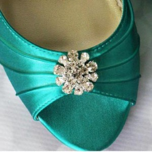 Custom Wedding Shoes Color Palette Jade
