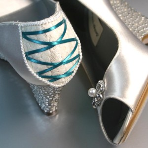 Lace Corset Custom Wedding Shoes
