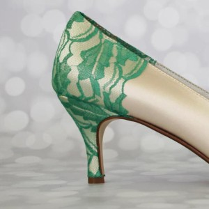 Lace Heel and Heel Cup Custom Wedding Shoes