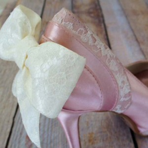 Lace Panels Custom Wedding Shoes
