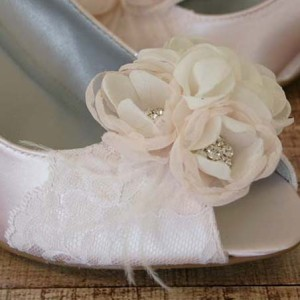 Lace Toe Cap Custom Wedding Shoes