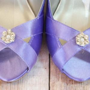 Custom Wedding Shoes Color Palette Lavender