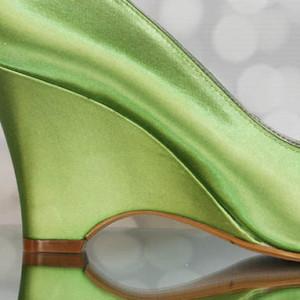 Custom Wedding Shoes Color Palette Leaf Green