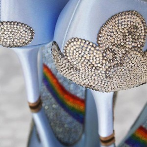 Custom Wedding Shoes Color Palette Light Blue