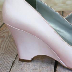 Light Peach Custom Wedding Shoe Color