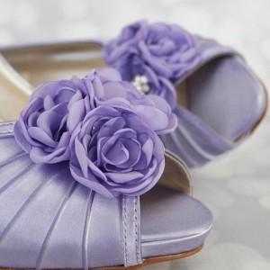 Custom Wedding Shoes Color Palette Lilac